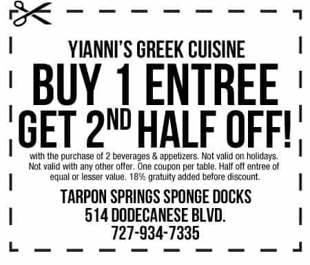 Yiannis Coupon