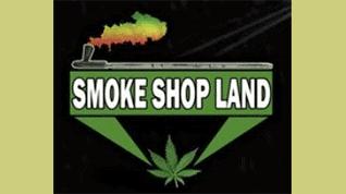 smoke shop land logo