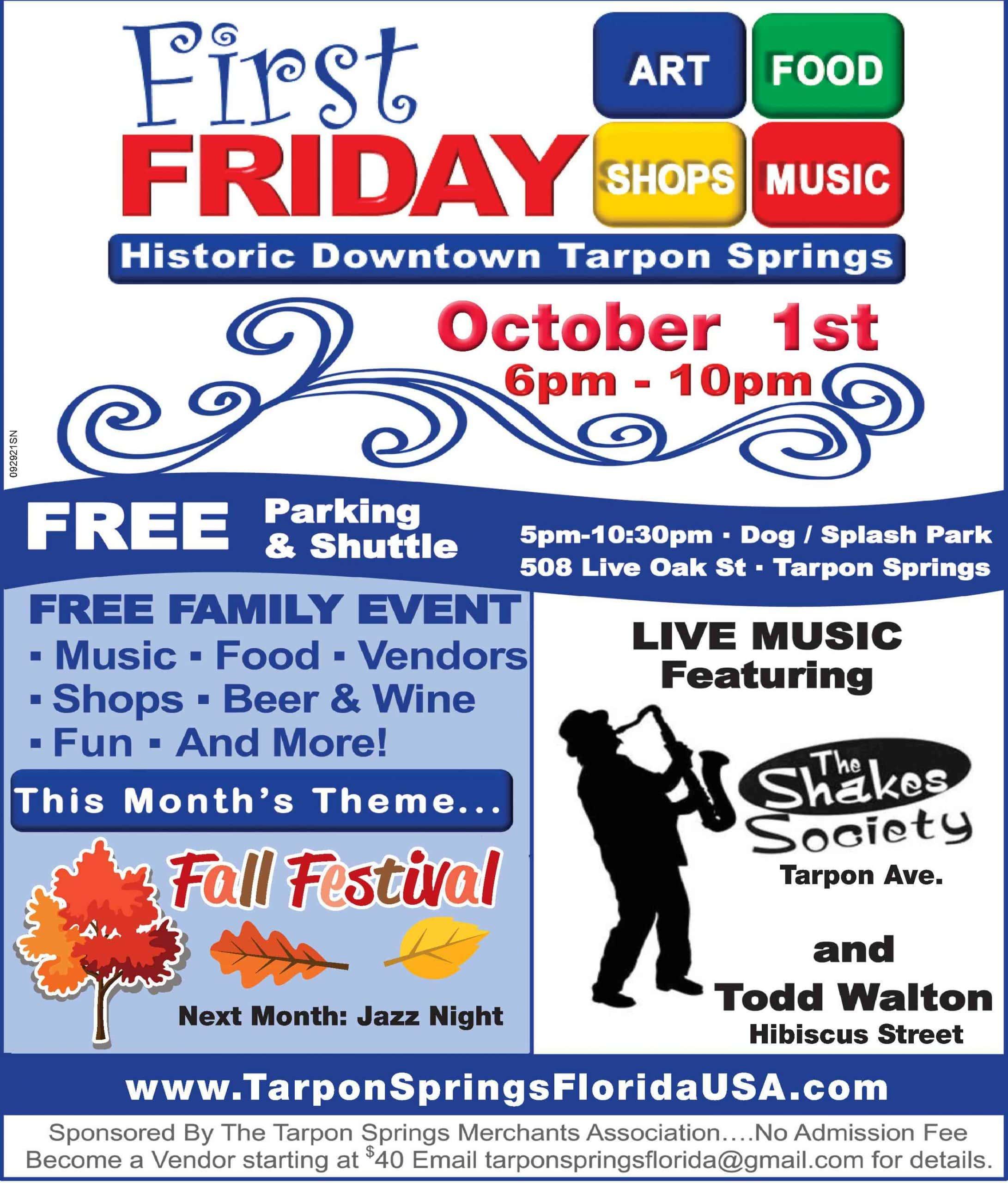 Tarpon Springs 1st Friday 10/1/2021